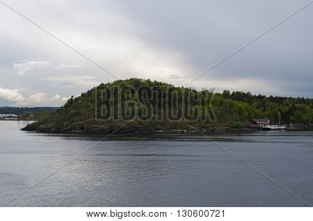 The beauty of Scandinavia. Oslo fjord island. Oslo, Norway.
