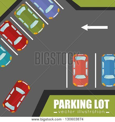 parking lot design, vector illustration eps10 graphic