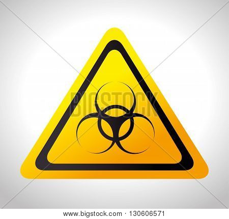 biohazard signal design, vector illustration eps10 graphic