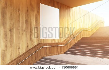 Blank Poster And Stairs