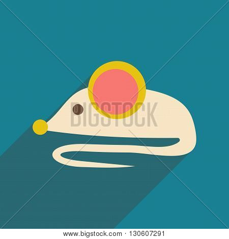 Flat with shadow icon and mobile application Mouse