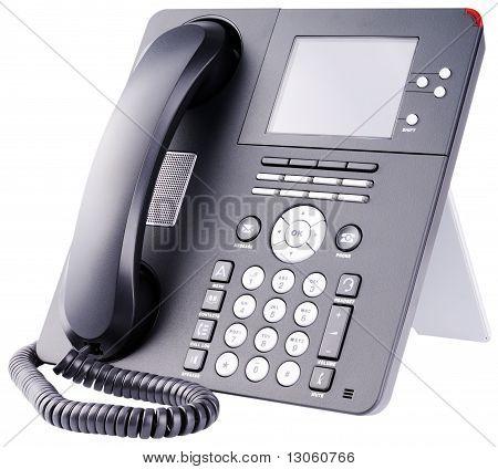 Ip Telephone On White