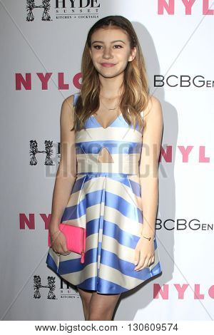 LOS ANGELES - MAY 12:  G Hannelius at the NYLON Young Hollywood May Issue Event at HYDE Sunset on May 12, 2016 in Los Angeles, CA