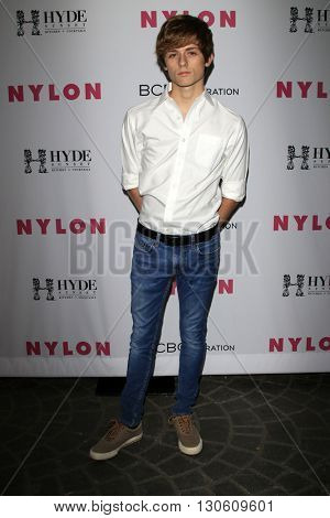 LOS ANGELES - MAY 12:  Dylan Dauzat at the NYLON Young Hollywood May Issue Event at HYDE Sunset on May 12, 2016 in Los Angeles, CA