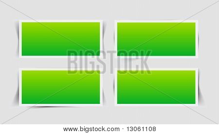 Vector Set Instant Photo Frames With Different Shade Forms