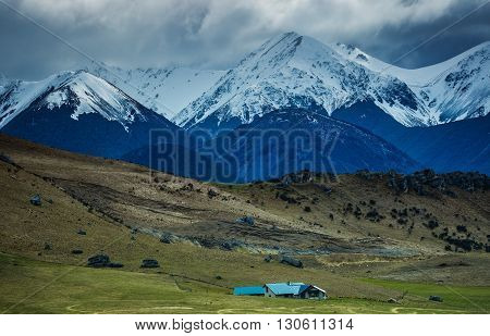 beautiful scenic of arthur pass important traveling destination in south island new zealand