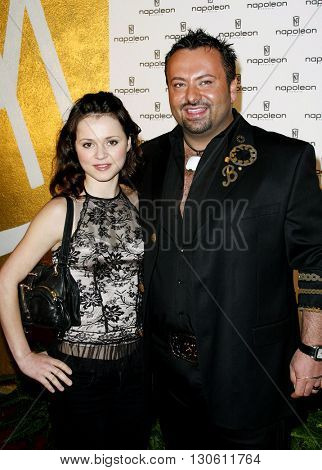Sasha Cohen and Napoleon Perdis at the Napoleon Perdis Hollywood Store Unveiling  held at the Napoleon Perdis in Hollywood, USA on May 1, 2007.