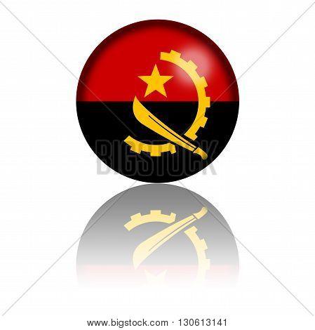 Republic Of Angola Flag Sphere 3D Rendering