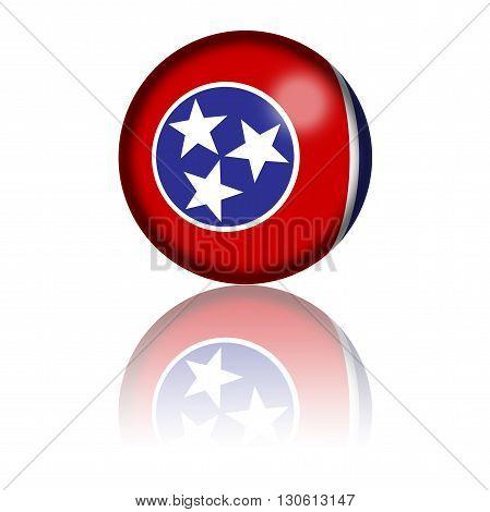 Tennessee Flag Sphere 3D Rendering