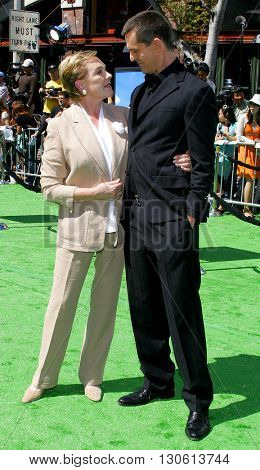 Julie Andrews and Rupert Everett at the Los Angeles premiere of 'Shrek 3' held at the Mann Village Theater in Westwood, USA on May 6, 2007.