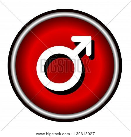 Male sign icon. Internet button on white background.