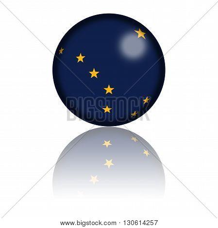 Alaska Flag Sphere 3D Rendering