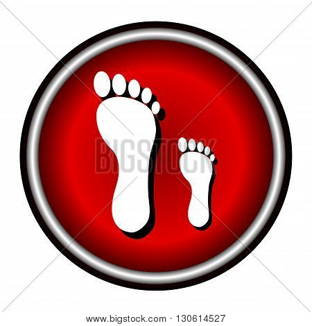 footprints vector flat icon on white background