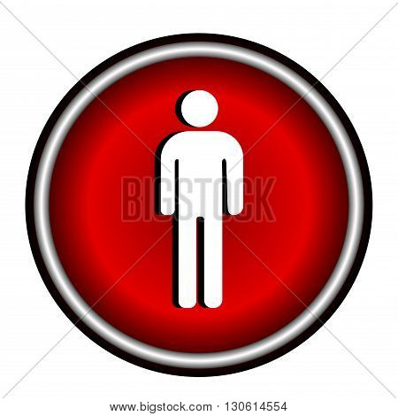 Man flat icon on white background. Vector illustration