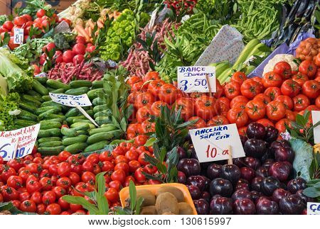 Vegetables on a turkish market in Istanbul