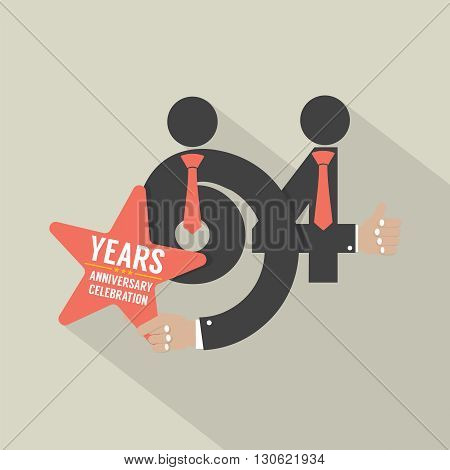 64th Years Anniversary Typography Design Vector Illustration. EPS 10