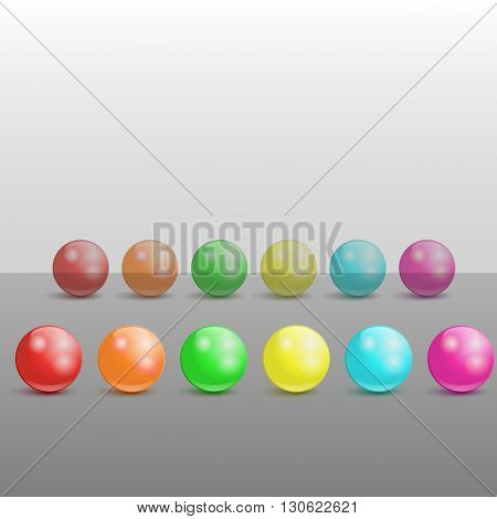 Collection Of Colorful Glossy Spheres.