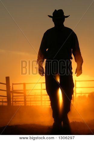 Sonnenuntergang Cowboy