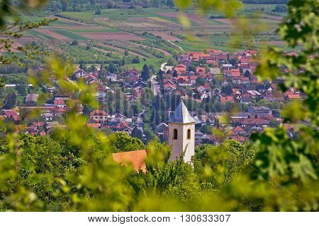 Church on the hill above Samobor town in northern Croatia