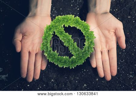 Stop pollution concept