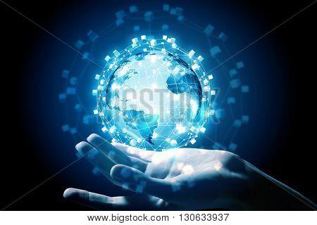 Media worldwide technology concept