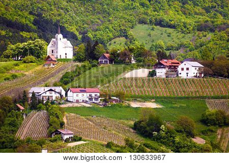 Hillside village of Zumberak agricultural region of Croatia