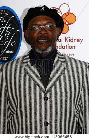 Samuel L. Jackson at the National Kidney Foundation of Southern California's 28th Annual Gift of Life Celebration held at the Warner Bros. Lot in Burbank, USA on April 29, 2007.
