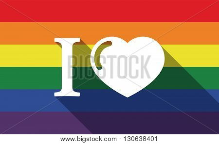 Long Shadow Gay Pride Flag With  An