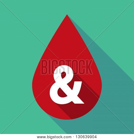 Long Shadow Blood Drop With An Ampersand