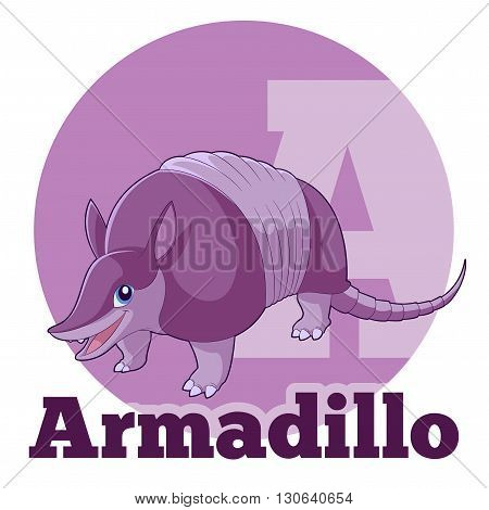 Vector image of the  ABC Cartoon Armadillo