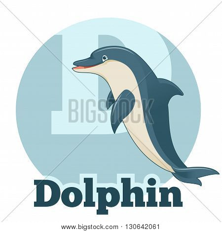 Vector image of the ABC ABC Cartoon Dolphin