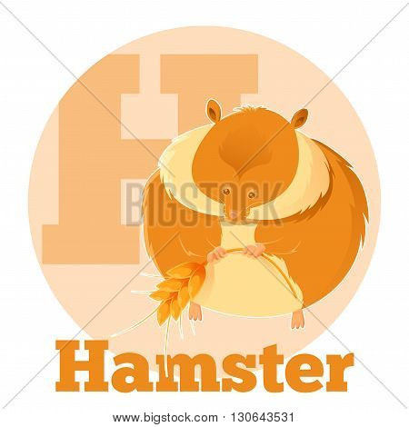 Vector image of the ABC Cartoon Hamster