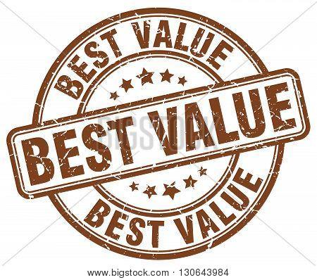 best value brown grunge round vintage rubber stamp