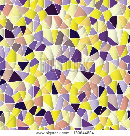 Beautiful abstract seamless pattern. Geometric objects like a pebble. Vector illustration.