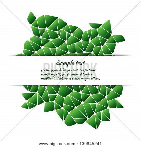 Greeting card design with abstract pattern and space for text. Vector template for covers banners posters etc.