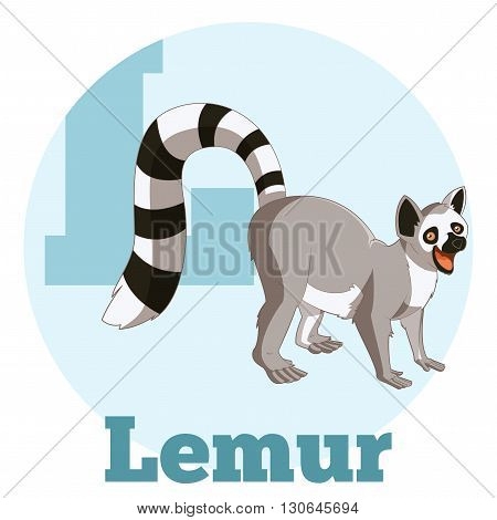 Vector image of the ABC Cartoon Lemur