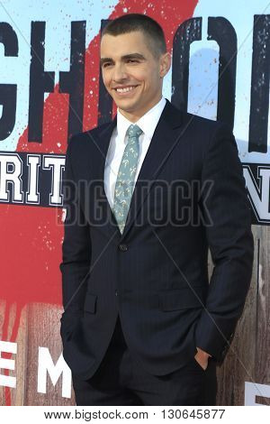 LOS ANGELES - MAY 20:  Dave Franco at the Neighbors 2: Sorority Rising American Premiere at Village Theater on May 20, 2016 in Westwood, CA
