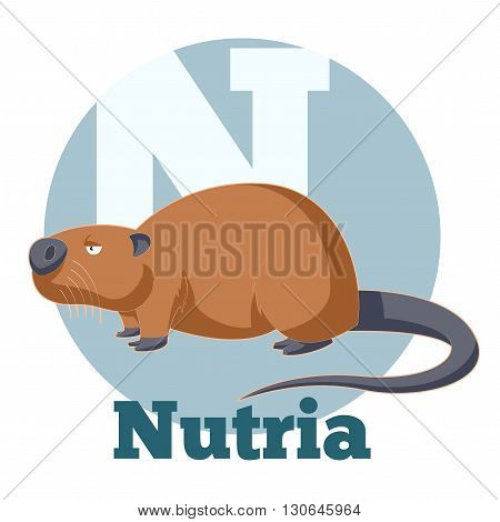 Vector image of the ABC Cartoon Nutria