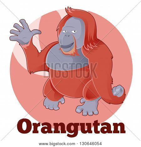 Vector image of the ABC Cartoon Orangutan