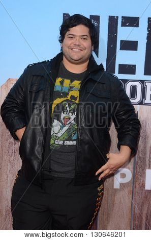 LOS ANGELES - MAY 20:  Harvey Guillen at the Neighbors 2: Sorority Rising American Premiere at Village Theater on May 20, 2016 in Westwood, CA