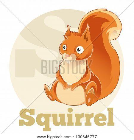 Vector image of the ABC Cartoon Spuirrel