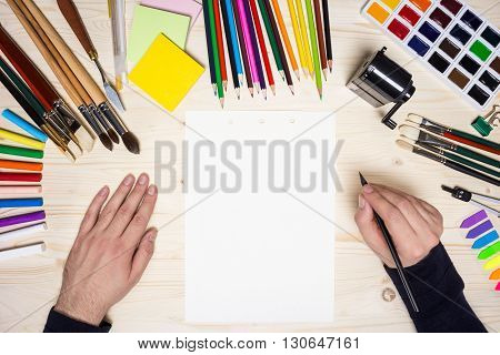 Artist's Hands And Tools Top