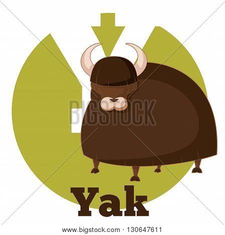 Vector image of the ABC Cartoon Yak