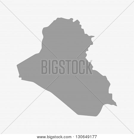 Iraq map in gray on a white background