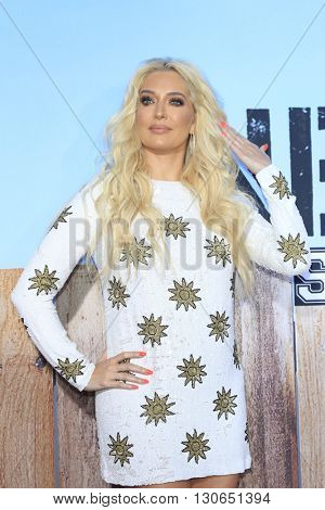 LOS ANGELES - MAY 20:  Erika Jayne at the Neighbors 2: Sorority Rising American Premiere at Village Theater on May 20, 2016 in Westwood, CA