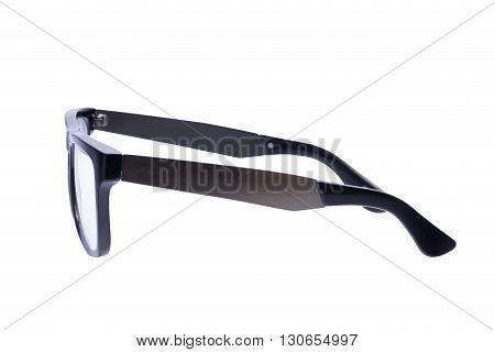 Black Eyeglasses frame isolated over white background