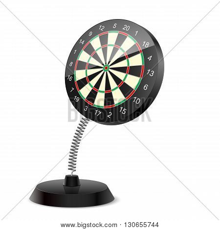 Souvenir at the spring in form darts on the white background