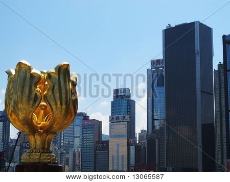 Golden Bauhinia in Hong Kong