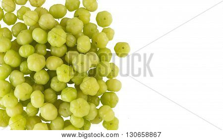 Top View Of Star Gooseberry On White Background