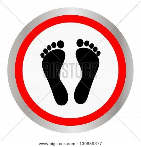 Footprint icon sign. Footprint icon flat design.